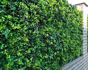 Искусственные заборы из листьев